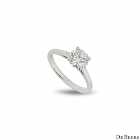 De Beers Platinum Classic Diamond Ring 1.21ct D/IF XXX